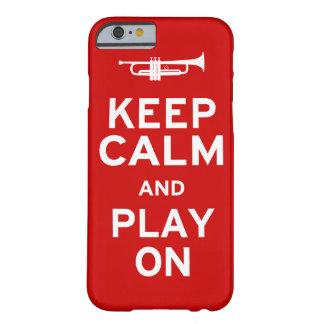 Guarde la trompeta tranquila funda de iPhone 6 barely there