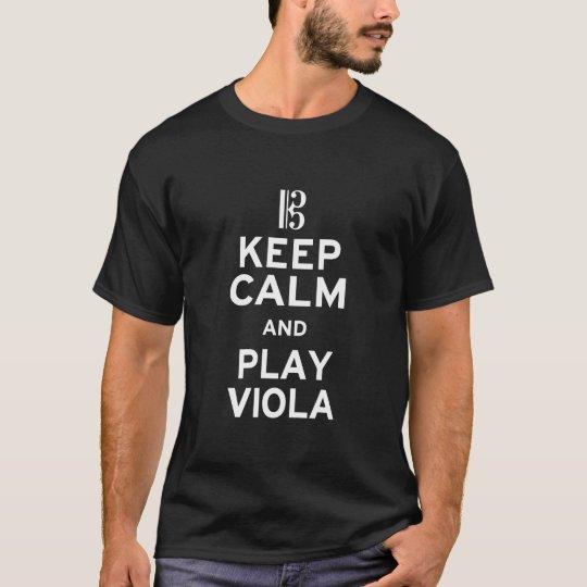 Guarde la viola de la calma y del juego camiseta