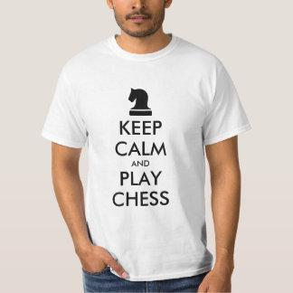Guarde las camisetas del ajedrez de la calma y del