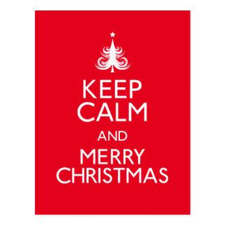 Guarde las Felices Navidad tranquilas y Postal
