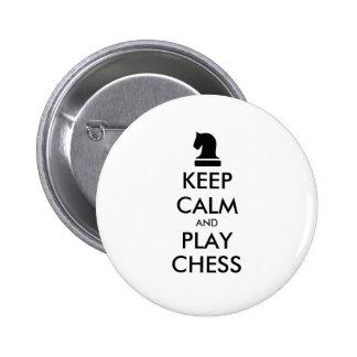 Guarde los botones del pinback del ajedrez de la chapa redonda de 5 cm