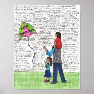 Guarde (los papás) 11x14 de persistencia póster