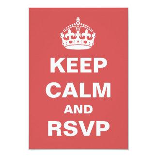 Guarde RSVP que se casa tranquilo Invitación 8,9 X 12,7 Cm
