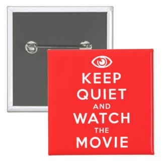 Guarde silenciosamente y mire la película chapa cuadrada 5 cm