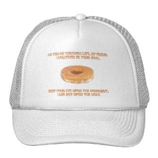 Guarde su ojo sobre el buñuelo gorras de camionero