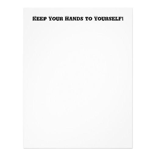 Guarde sus manos a sí mismo - matón anti tarjeta publicitaria