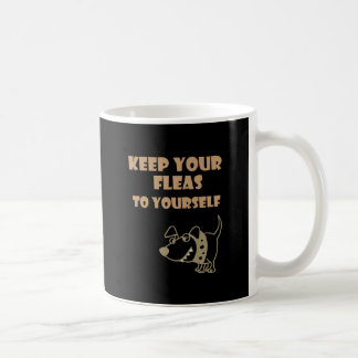 Guarde sus pulgas a sí mismo dibujo animado del taza de café