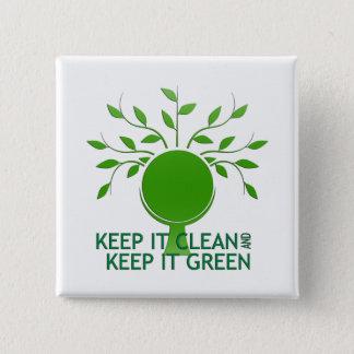 Guárdelo botón limpio del Día de la Tierra