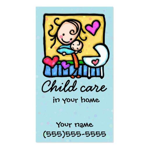 Guardería de la niñera del cuidado de niños que cu tarjeta personal