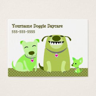 Guardería del perrito/caminante del perro tarjeta de visita