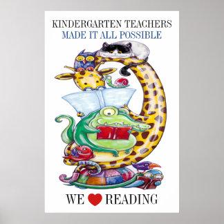 ¡Guardería-Elíjanos Tamaño-aman el leer! Poster Póster