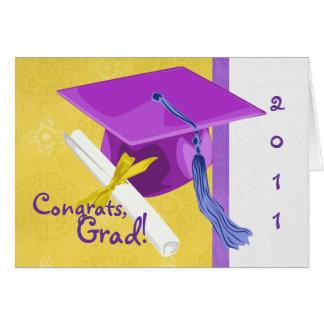 Guardería o tarjeta de la graduación del