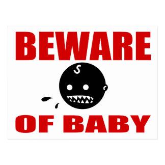 Guárdese de bebé postal