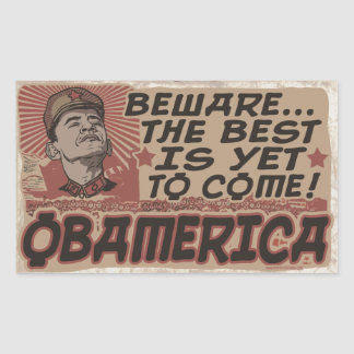 Guárdese de Obamerica de Obama Rectangular Pegatina