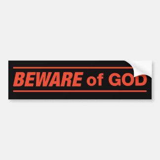 Guárdese de pegatina para el parachoques de dios