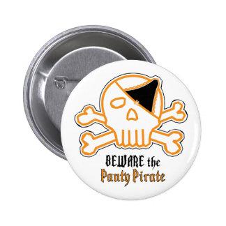 Guárdese del pirata de las bragas chapa redonda de 5 cm