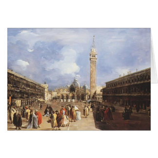 Guardi-Plaza San Marco de Francisco hacia basílica Felicitaciones