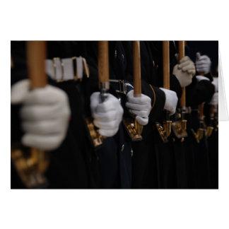 Guardia de honor ceremonial común, inauguración de tarjeta de felicitación