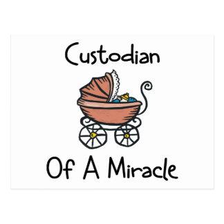 Guardián de una nueva mamá del milagro tarjeta postal