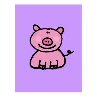 Guarro rosado postal