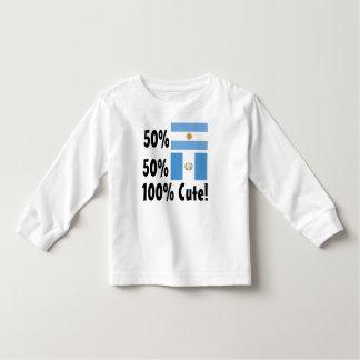 Guatemalteco del argentino el 50% del 50% el 100% camiseta de bebé