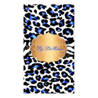 Guepardo azul eléctrico de PixDezines+cebra Tarjetas De Visita
