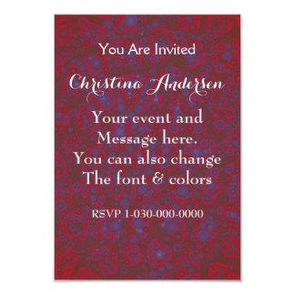 Guepardo azul rojo fluorescente invitación 8,9 x 12,7 cm