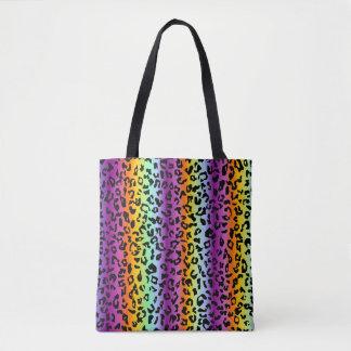 Guepardo del arco iris bolso de tela