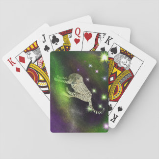 Guepardo del espacio barajas de cartas