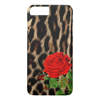 Guepardo del rosa rojo funda iPhone 7 plus