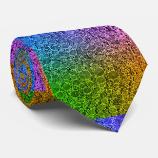Guepardo fluorescente del arco iris corbatas