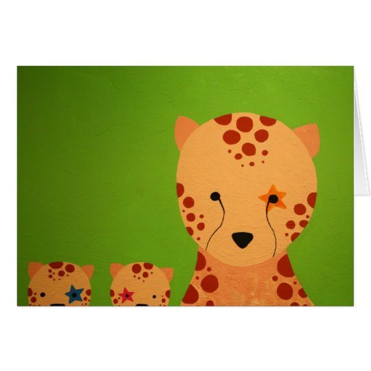 guepardo tarjeta de felicitación