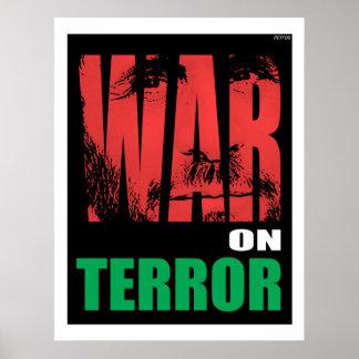 Guerra antiterrorista póster
