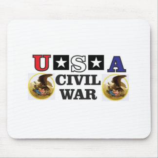 guerra civil blanca y azul roja alfombrilla de ratón
