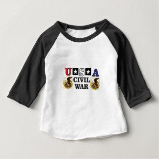 guerra civil blanca y azul roja camiseta de bebé