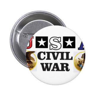 guerra civil blanca y azul roja chapa redonda de 5 cm