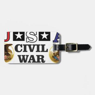 guerra civil blanca y azul roja etiquetas para maletas