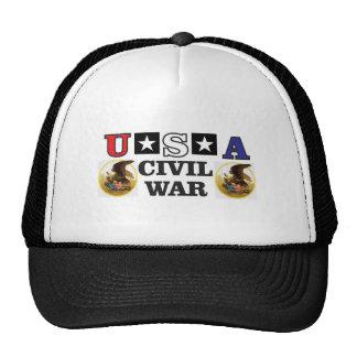 guerra civil blanca y azul roja gorros bordados