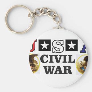 guerra civil blanca y azul roja llavero redondo tipo chapa
