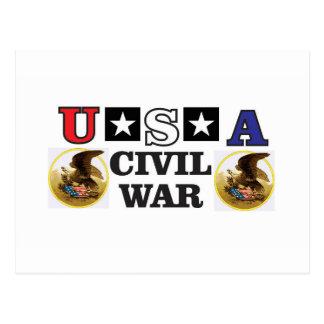 guerra civil blanca y azul roja postal