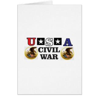 guerra civil blanca y azul roja tarjeta de felicitación