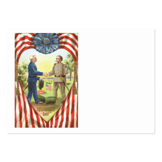 Guerra civil de la unión del confederado de la ban tarjetas de visita