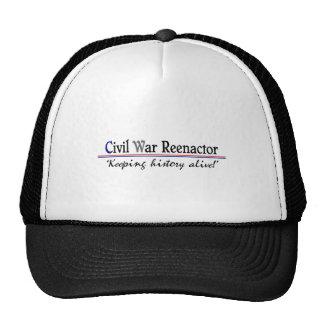 Guerra civil Reenactor Gorras