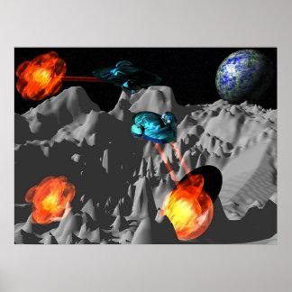 Guerra en la luna impresiones