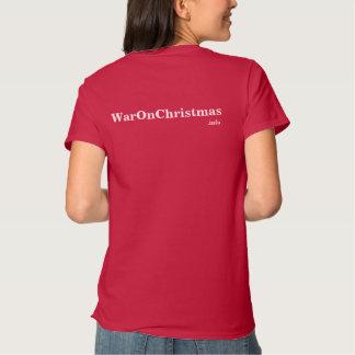 Guerra en navidad camisetas