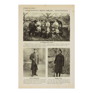 Guerra mundial 1, bautismo, soldados jovenes impresiones
