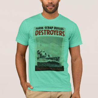 Guerra mundial de los destructores 3 camiseta