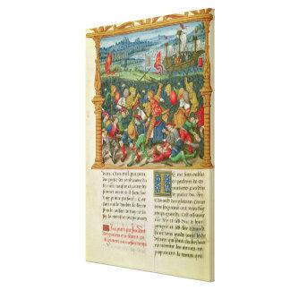 Guerra que emprende de rey Edward III en la batall Lienzo Envuelto Para Galerías