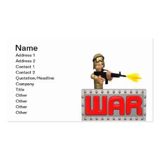 Guerra Plantilla De Tarjeta De Negocio