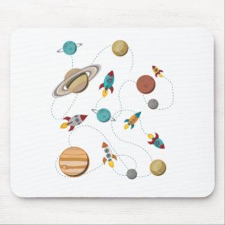Guerras de la luna del aterrizaje del espacio de alfombrilla de ratón
